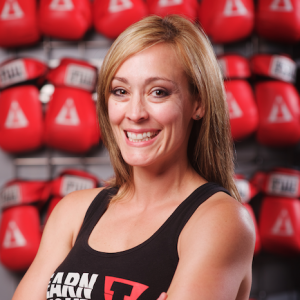 Title Boxing Trainer + boxing gloves + Sarah