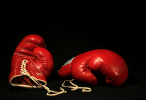 red boxing gloves gear