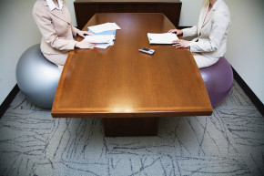 exercise ball conference table