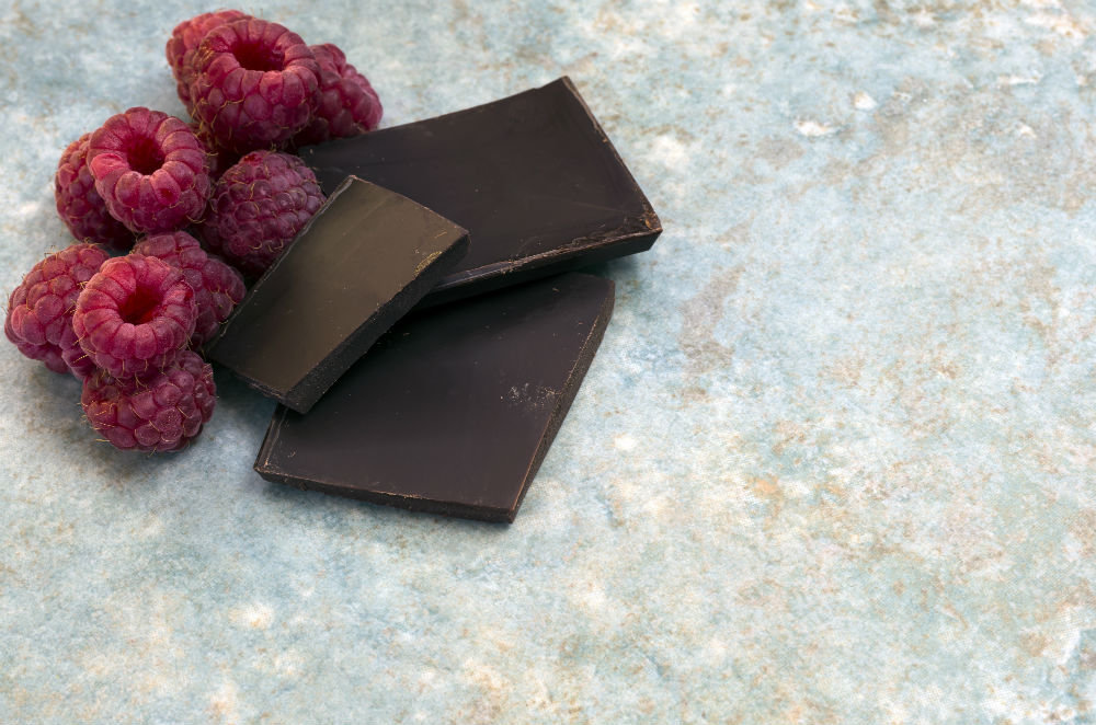 fruit and dark chocolate