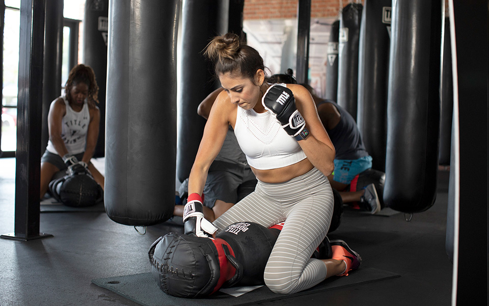 Core work with the heavy bag
